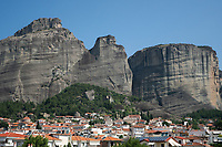 View of Meteora from Kalabaka, Greece