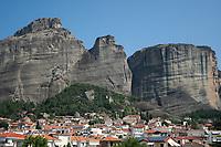 View of Meteora from Kalabaka, Greece