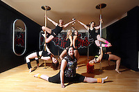 Pictured clockwise from bottom LEFT: Kimberley Jones, Tina Lediard, Laura Fidoe, Sian O'Shea, Reb Wilkshire, organiser Lisa Broughton and Emily Kennedy (FRONT). Saturday 22 February 2014<br />