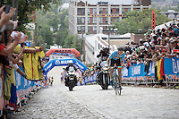 Sep Vanmarcke (BEL/LottoNL-Jumbo) storming up 23rd street<br /> <br /> Elite Men Road Race<br /> UCI Road World Championships Richmond 2015 / USA