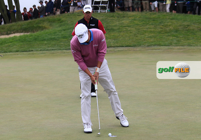 Fredrik Jacobson (SWE) takes his putt on the 2nd green during Sunday's Final Round of the 112th US Open Championship at The Olympic Club, San Francisco,  California, 17th June 2012 (Photo Eoin Clarke/www.golffile.ie)