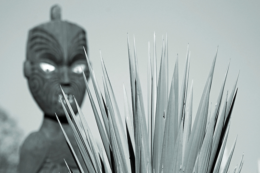 Carved Maori figure. New Zealand