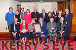Bobby O'Connell Mayor of Killarney presents the Hugh O'Flaherty International Humanitarian award to the family of Fr Sean Myers Barleymount Killarney for his work in Brazil in the Plaza hotel on Saturday night front row l-r: dan Myers, Teresa Cunningham, Noreen Hayes, Bobby O'Connell Mayor, Fr dan Baragry, Kevin O'Malley American Ambassador to Ireland. Back row: Cormac Dineen, Catherine O'Flatherty, Neil Dineen, Dena O'Malley, Bishop Ray Browne, Hugh O'Flaherty, Pearl Dineen, john Leen, Jerry O'Grady