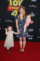 "LOS ANGELES, CALIFORNIA - JUNE 11:  Erika Christensen and family attend the premiere of Disney and Pixar's ""Toy Story 4"" on June 11, 2019 in Los Angeles, California. <br /> CAP/MPIFS<br /> ©MPIFS/Capital Pictures"