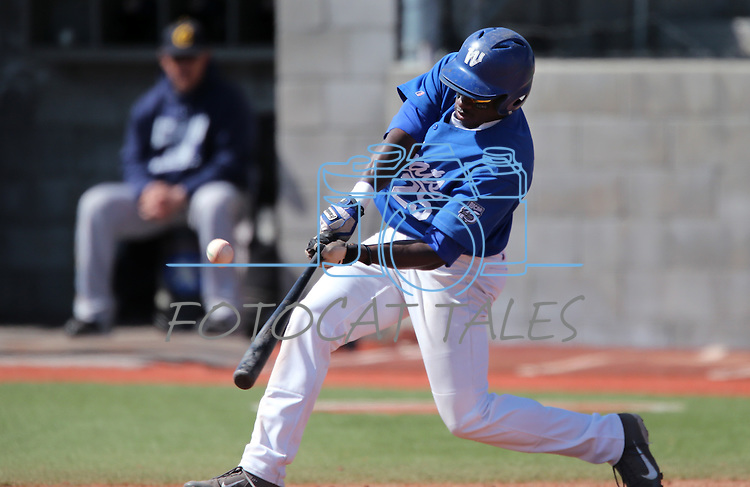 Western Nevada's Donald Glover Jr bats in a college baseball game against Southern Nevada in Carson City, Nev., on Friday, March 22, 2013..Photo by Cathleen Allison
