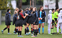 Monfalcone, Italy, April 26, 2016.<br /> USA's players celebrating after winning the USA v Iran football match at Gradisca Tournament of Nations (women's tournament). Monfalcone's stadium.<br /> &copy; ph Simone Ferraro / Isiphotos