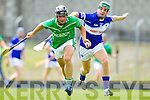 Kevin Orpen Saint Brendans in action against Pat Joe Connolly Ballyduff in the Senior county hurling Championship at Austin Stack park on Sunday.