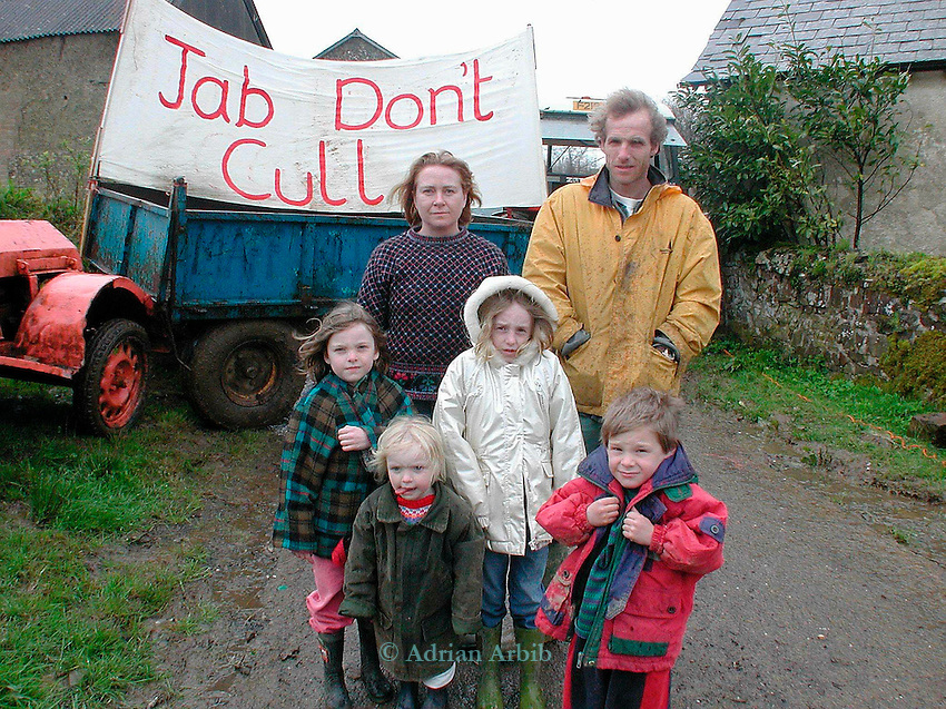 Matt Knight and Suzanne and family   - whose organic  farm  near Chulmleigh, Devon has been deemed for culling under the contiguous cull policy...MAtt has been reististing the cull and plans to use every means possible to prevent MAFF from entering the farm.  ....