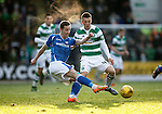 St Johnstone v Celtic...13.12.15  SPFL  McDiarmid Park, Perth<br /> Steven MacLean and Callum McGregor<br /> Picture by Graeme Hart.<br /> Copyright Perthshire Picture Agency<br /> Tel: 01738 623350  Mobile: 07990 594431
