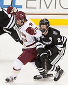 Graham McPhee (BC - 27), Brian Pinho (PC - 26) - The Boston College Eagles defeated the visiting Providence College Friars 3-1 on Friday, October 28, 2016, at Kelley Rink in Conte Forum in Chestnut Hill, Massachusetts.The Boston College Eagles defeated the visiting Providence College Friars 3-1 on Friday, October 28, 2016, at Kelley Rink in Conte Forum in Chestnut Hill, Massachusetts.
