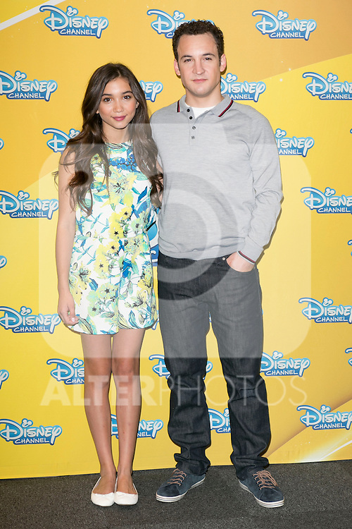 """Ben Savage and Rowan Blanchard attend the presentation of the Disney Series """"Girl Meets World"""" at the Me Hotel in Madrid, Spain. July 21, 2014. (ALTERPHOTOS/Carlos Dafonte)"""