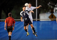 Florida International University men's soccer player Chris Lamarre (12) plays against Florida Atlantic University on August 28, 2011 at Miami, Florida.  The game ended in a 1-1 overtime tie. .