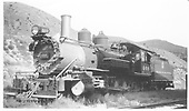 Left 3/4 view of K-27 #460.<br /> D&amp;RGW  Salida, CO  Taken by Graham, Robert B. - 8/28/1938