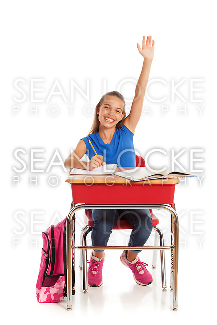 Cute young student ready for the new school year.
