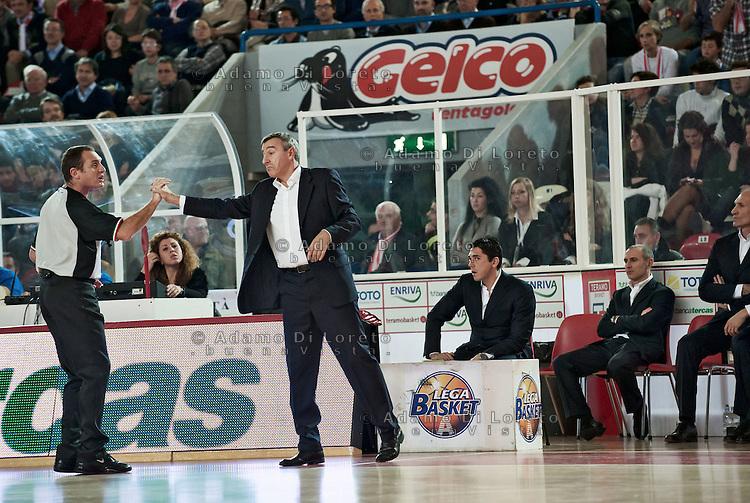 TERAMO 27/12/2011 - BASKET LEGA SERIE A1 CAMPIONATO 2011 - 2012: INCONTRO BANCA TERCAS TERAMO - ACEA ROMA..NELLA FOTO LARDO LINO ROMA.FOTO DI LORETO ADAMO