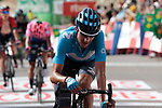 Marc Soler (ESP) Movistar Team crosses the finish line at the end of Stage 6 of La Vuelta 2019 running 198.9km from Mora de Rubielos to Ares del Maestrat, Spain. 29th August 2019.<br /> Picture: Colin Flockton | Cyclefile<br /> <br /> All photos usage must carry mandatory copyright credit (© Cyclefile | Colin Flockton)