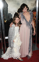 www.acepixs.com<br /> <br /> January 23 2017, LA<br /> <br /> Actress Milla Jovovich and daughter Ever Gabo Anderson arriving at the premiere of 'Resident Evil: The Final Chapter' at the Regal LA Live on January 23, 2017 in Los Angeles, California.<br /> <br /> By Line: Peter West/ACE Pictures<br /> <br /> <br /> ACE Pictures Inc<br /> Tel: 6467670430<br /> Email: info@acepixs.com<br /> www.acepixs.com
