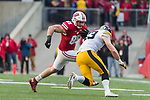 Wisconsin Badgers tight end Zander Neuville (85) carries the ball during an NCAA College Big Ten Conference football game against the Iowa Hawkeyes Saturday, November 11, 2017, in Madison, Wis. The Badgers won 38-14. (Photo by David Stluka)