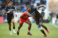 Aled Brew of Bath Rugby takes on the Toulon defence. European Rugby Champions Cup match, between RC Toulon and Bath Rugby on December 9, 2017 at the Stade Mayol in Toulon, France. Photo by: Patrick Khachfe / Onside Images