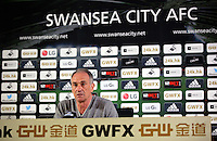 Swansea City FC manager Francesco Guidolin gives a press conference ahead of his team's game against Manchester City, at the Liberty Stadium, Swansea, Wales, UK. Thursday 12 May 2016