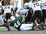DENTON, TX - AUGUST 31: North Texas Mean Green defensive end Daryl Mason (49) of the North Texas Mean Green Football vs Idaho Vandals at Apogee Stadium in Denton on August 31, 2013 in Denton, Texas. Photo by Rick Yeatts