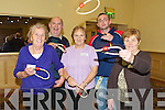 Joan Lucey, Tralee, Christy Hannafin, Ardfert, Bess Cashell, Kilflynn, David Langan, Tralee and Mary O'Halloran,  pictured at the older people's forum and north and East Kerry development physical activity event at the Brandon hotel on Friday.