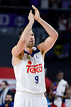 Real Madrid's Felipe Reyes rebounds record during Liga Endesa match between Real Madrid and FC Barcelona Lassa at Wizink Center in Madrid, Spain. March 12, 2017. (ALTERPHOTOS/BorjaB.Hojas)