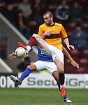 James McFadden wins the ball