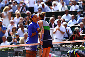 7th June 2017, Roland Garros, Paris, France; French Open tennis championships;  KAROLINA PLISKOVA (CZE) beats CAROLINE GARCIA (FRA) during day eleven match of the 2017 French Open at Stade Roland-Garros in Paris, France.