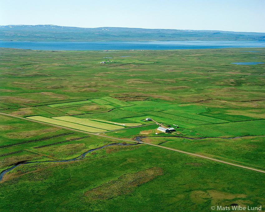 Brúarholt séð til vesturs, Húnaþing vestra áður Ytri-Torfustaðahreppur / Bruarholt viewing west. Hunathing vestra former Ytri-Trofustadahreppur.