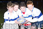 John Kelly, Jack Stuart, Andrew Grey and Fearghal O Nuallain, four of the Tralee youth players who will be taking part in the Munster International Festival of Youths Rugby (9 to 14s) in Tralee Rugby Club this weekend.   Copyright Kerry's Eye 2008