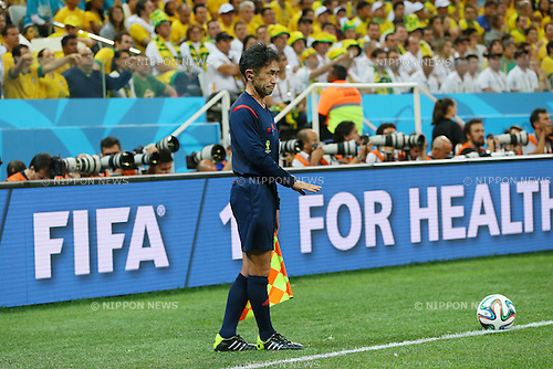 Toshiyuki Nagi, <br /> JUNE 12, 2014 - Football /Soccer : <br /> 2014 FIFA World Cup Brazil <br /> Group Match -Group A- <br /> between Brazil 3-1 Croatia <br /> at Arena de Sao Paulo, Sao Paulo, Brazil. <br /> (Photo by YUTAKA/AFLO SPORT) [1040]
