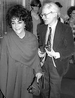 ElizabethTaylor Andy Warhol 1981<br /> Photo By Adam Scull/PHOTOlink.net