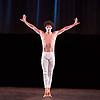 English National Ballet <br /> at Sadler's Wells, London, Great Britain <br /> rehearsal<br /> 22nd March 2017 <br /> <br /> <br /> <br /> Adagio Hammerklavier <br /> by Hans van Manen <br /> <br /> <br /> <br /> Isaac Hernandez <br /> <br /> Photograph by Elliott Franks <br /> Image licensed to Elliott Franks Photography Services