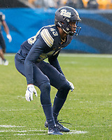 Pitt defensive back Jazzee Stocker. The Pitt Panthers defeated the Virginia Cavaliers 31-14 at Heinz Field, Pittsburgh, PA on October 28, 2017.