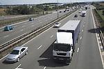 Motorway traffic on M1 England