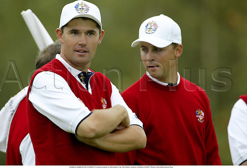 PADRAIG HARRINGTON (EUROPE), Fourball match 4, 34th Ryder Cup, The Belfry, Sutton Coldfield, 020927. Photo: Glyn Kirk/Action Plus....Golf golfer player 2002........................................u
