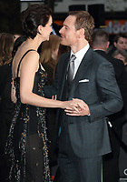 Michael Fassbender and  Katherine Waterston at the Alien: Covenant - World Premiere at the Odeon Leicester Square, London on May 4th 2017<br />  CAP/ROS<br /> &copy;ROS/Capital Pictures /MediaPunch ***NORTH AND SOUTH AMERICAS ONLY***