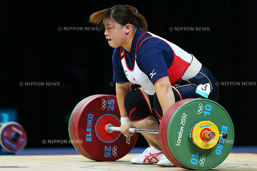 Asami Shimamoto (JPN), .AUGUST 5, 2012 - Weightlifting : .Women's +75kg .at ExCeL .during the London 2012 Olympic Games in London, UK. .(Photo by Daiju Kitamura/AFLO SPORT) [1045]