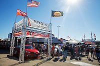 Sept. 21, 2013; Ennis, TX, USA: NHRA fans in the Toyota display during the Fall Nationals at the Texas Motorplex. Mandatory Credit: Mark J. Rebilas-