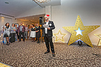 Pictured: Lottery winner Nigel Willett. Wednesday 28 November 2018<br /> Re: National Lottery millionaires from south Wales and the south west of England have hosted a glitzy Rat Pack-inspired Christmas party for an older people's music group at The Bear Hotel in Cowbridge, Wales, UK.