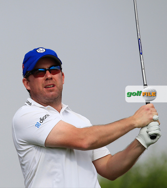 Richie Ramsey (SCO) on the 6th tee during Round 4 of the Abu Dhabi HSBC Championship on Sunday 22nd January 2017.<br /> Picture:  Thos Caffrey / Golffile<br /> <br /> All photo usage must carry mandatory copyright credit     (&copy; Golffile | Thos Caffrey)