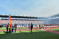 San Jose, CA - Thursday July 28, 2016: MLS All-Stars, Arsenal FC, pre-game ceremony  prior to a Major League Soccer All-Star Game match between MLS All-Stars and Arsenal FC at Avaya Stadium.