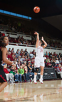 Stanford, CA - Sunday, January 20, 2013: Stanford Women's Basketball vs. USC at Maples Pavilion. Stanford won 75 to 66.