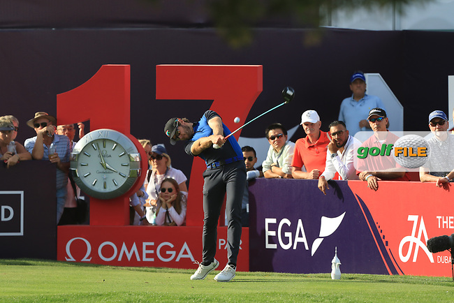 Kalle Samooja (FIN) on the 17th tee during Round 4 of the Omega Dubai Desert Classic, Emirates Golf Club, Dubai,  United Arab Emirates. 27/01/2019<br /> Picture: Golffile | Thos Caffrey<br /> <br /> <br /> All photo usage must carry mandatory copyright credit (&copy; Golffile | Thos Caffrey)