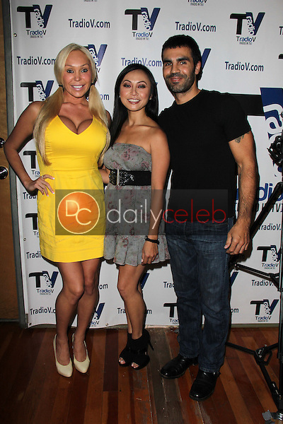 "Mary Carey, Christine Nguyen, Ojani Noa<br /> on the set of ""Politically Naughty with Mary Carey,"" TradioV Studios, Los Angeles, CA 10-07-13<br /> Dave Edwards/DailyCeleb.com 818-249-4998"