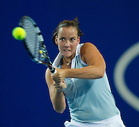 JARMILA GAJDOSOVA (AUS) against MARION BARTOLI  (FRA) in the group match at the Hopman Cup. France beat Australia 6-0 6-0..03/01/2012, 3rd January 2012, 03.01.2012..The HOPMAN CUP, Burswood Dome, Perth, Western Australia, Australia.@AMN IMAGES, Frey, Advantage Media Network, 30, Cleveland Street, London, W1T 4JD .Tel - +44 208 947 0100..email - mfrey@advantagemedianet.com..www.amnimages.photoshelter.com.