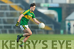 Jack Savage Kerry in action against  Limerick in the Final of the McGrath Cup at the Gaelic Grounds on Sunday.
