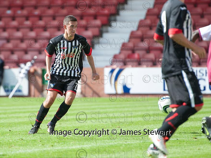Pars' Shaun Byrne scores their second goal.