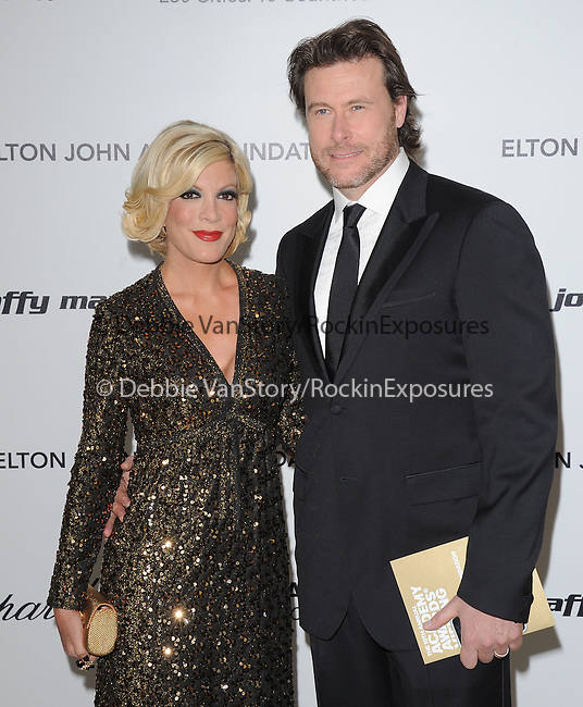Tori Spelling and Dean McDermot at the 19th Annual Elton John AIDS Foundation Academy Awards Viewing Party held at The Pacific Design Center Outdoor Plaza in West Hollywood, California on August 27,2011                                                                               © 2011 DVS / Hollywood Press Agency